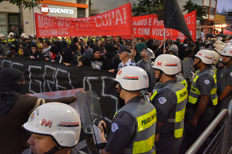 World Cup Protest In Sau Paulo