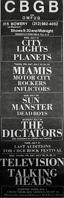 CBGB 07-21-76