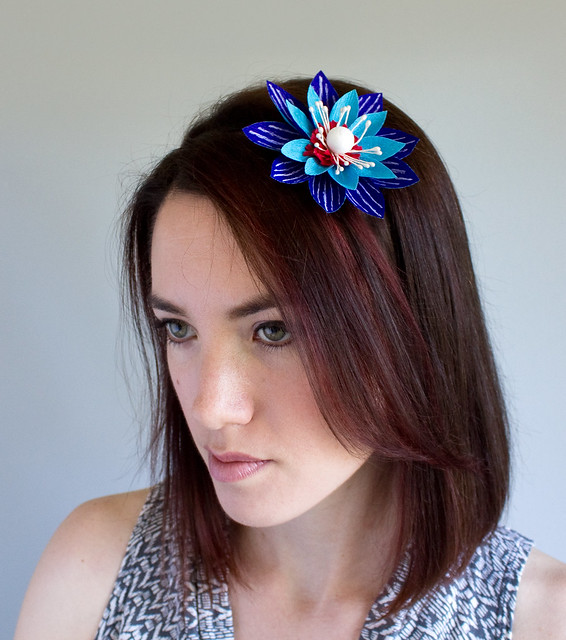 DIY Patriotic Paper Flower Headband