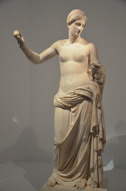 The Venus of Arles, discovered in several pieces at the Roman theatre at Arles and dating to the end of the 1st century BC, Moi, Auguste, Empereur de Rome exhibition, Grand Palais, Paris