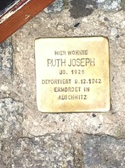 Photo of Ruth Joseph brass plaque