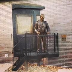 Whistle Stop Longmont, Dan Snarr | Longmont, Colorado 336/365 #sculpture #publicart #longmont #colorado #teddyroosevelt #project365 #365