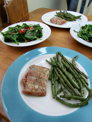 Salmon Roasted Green Beans for Dinner