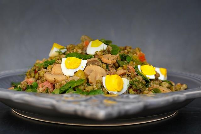 salada de feijão mungo