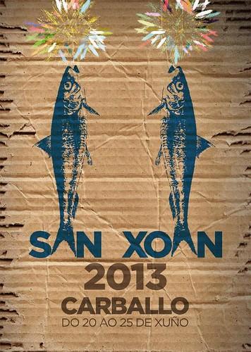 Carballo 2013 - Festas patronais de San Xoán - cartel