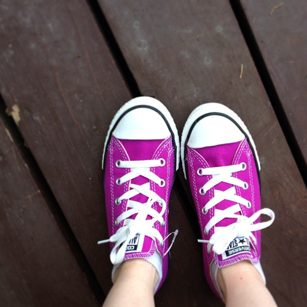 "Day192 New Converse.  They are called ""cactus purple"".  7.11.13 #jessie365"