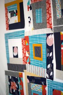 Tsuru quilt blocks in progress