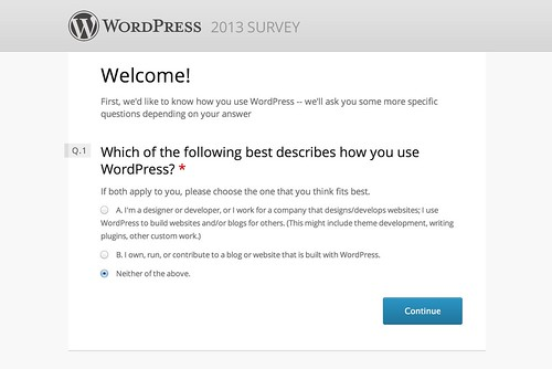 WordPress 2013 Survey