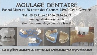 Carte de visite moulage dentaire