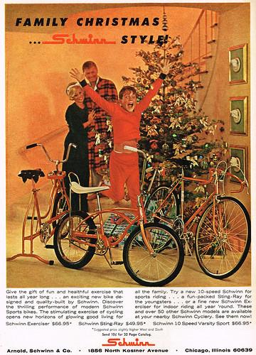 Vintage Ad #2,274: Family Christmas...Schwinn Style