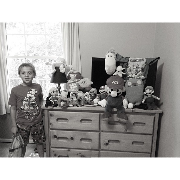 "Owen titled this picture ""Owen's Toy Collection"" #pictapgo_app"