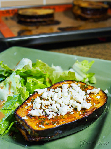 Chermoula Stuffed Eggplant