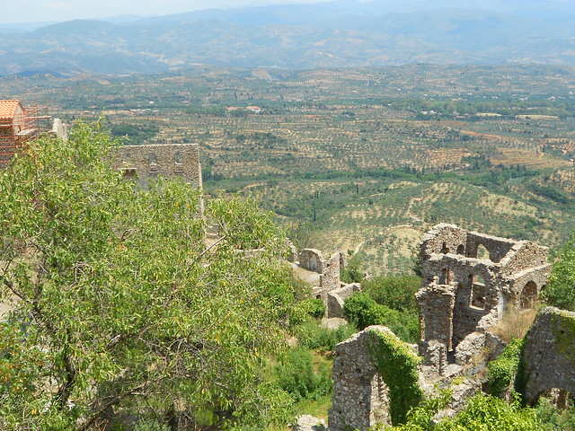 rovine, palazzo dei Despoti e panorama a Mistrà