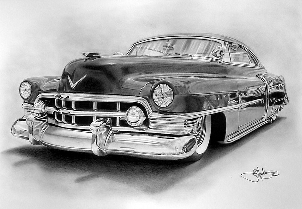 how to draw a old school car