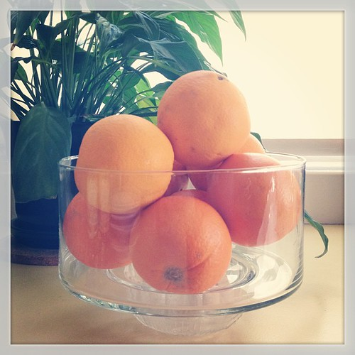 #augfoodphotos 22 | #fruit bowl made from glass cake cover upsidedown in a small bowl. Because I can. #craftybitch #diy