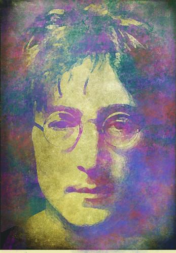 Lennon grunge portrait