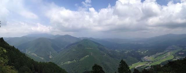 烏帽子岳 展望岩からの風景