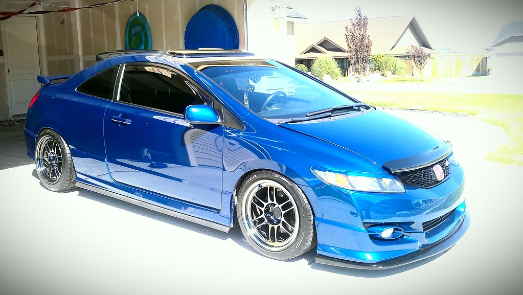 Stanced Wide Wheel 8th Gen Civic Only Pictures And