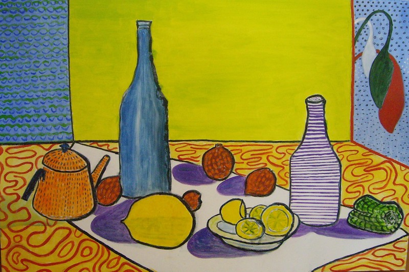 Still Life - after David Hockney
