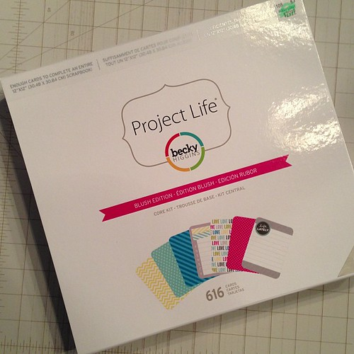 250:365 New #projectlife kit, how I love you. Maybe one of these days I'll actually do something with you (or the 2 that came before you).