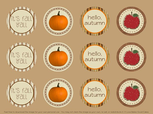 Fall Cupcake Toppers 1