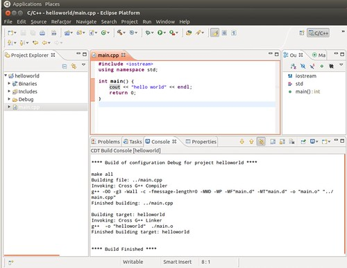 Ubuntu 12.04 Eclipse New C++ Project 8