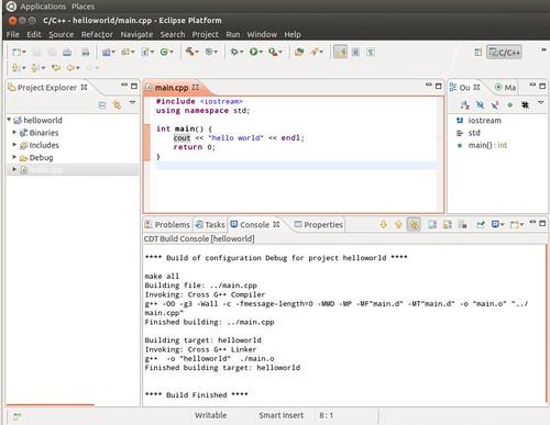 Ubuntu 12.04 Eclipse New C++ Project 8