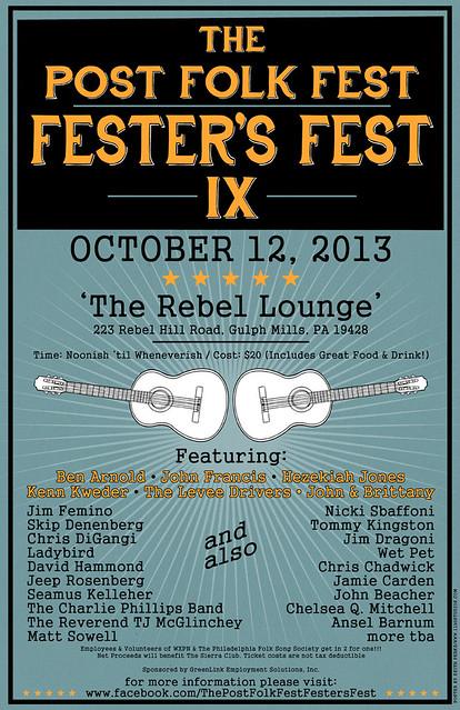 Post Folk Fest Fester's Fest IX Concert Poster