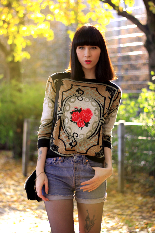 Chicwish pullover knit sweater rose baroque print CATS & DOGS fashion blog Berlin 3