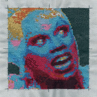 RuPaul cross-stitch
