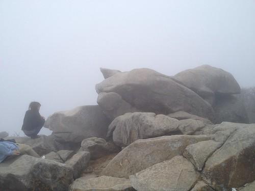 御在所岳 望湖台の奇岩 豚!?