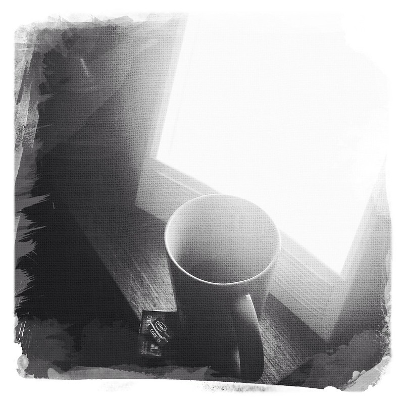coffee and my trusty SAD light