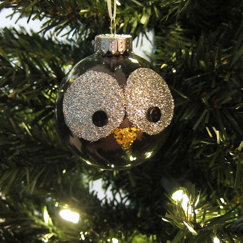 just crafty enough  u2013 project  glitter owl christmas ornament