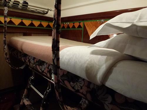 Orient Express - cabin upper bunk