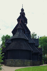 Backside of the Stave Church from Gol, Hallingdal