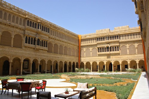 the grand courtyard of Suryagarh