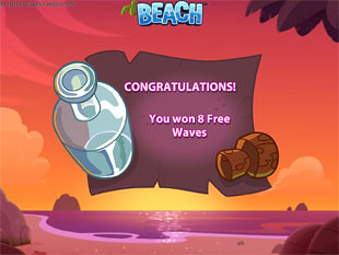 Beach free spins feature