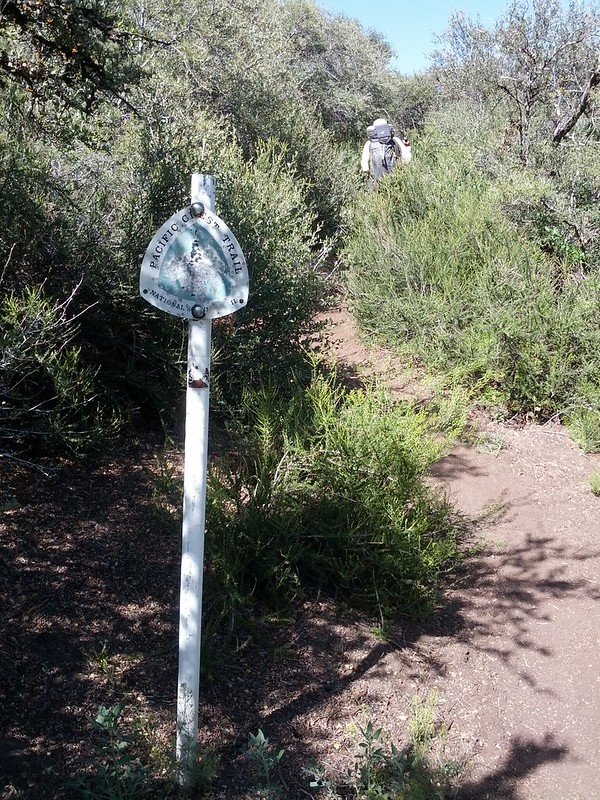 Metal PCT Marker on a pole