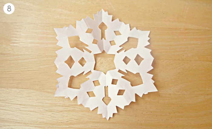 diy christmas paper snowflakes garland tutorial 4