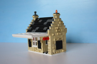 Lego station building