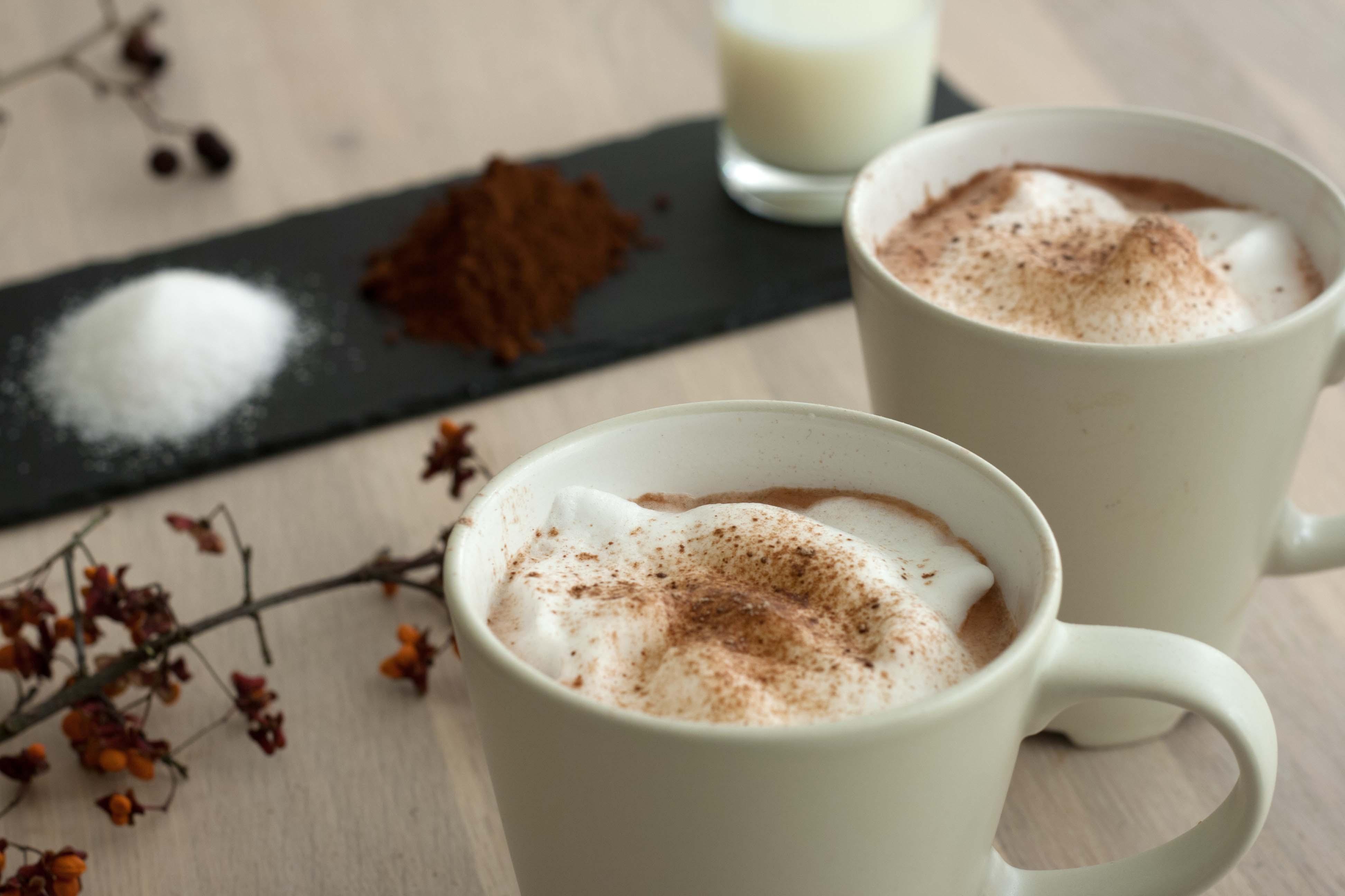 Opskrift på Nem hjemmelavet varm kakao med mælkeskum