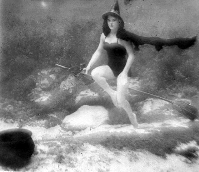 Underwater witch at Halloween: Rainbow Springs, Florida by State Library and Archives of Florida, on Flickr