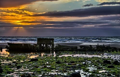 sunset sea beach canon photography passages steam shipwreck storms fishingboat hdr isleofman manx fishingtrawler ellanvannin tripleexpansionsteamengine steamtrawler jurbyhead canon1100d ramseyrocketbrigade passagestrawler
