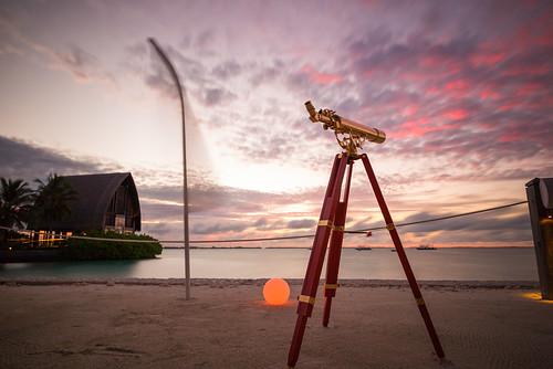 sunset sea holiday maldives longexpo