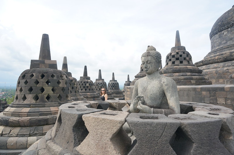 At the top of majestic Borobudur temple