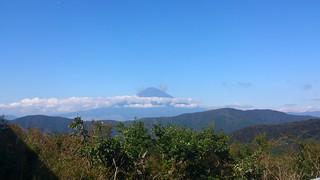 大涌谷から見える富士山