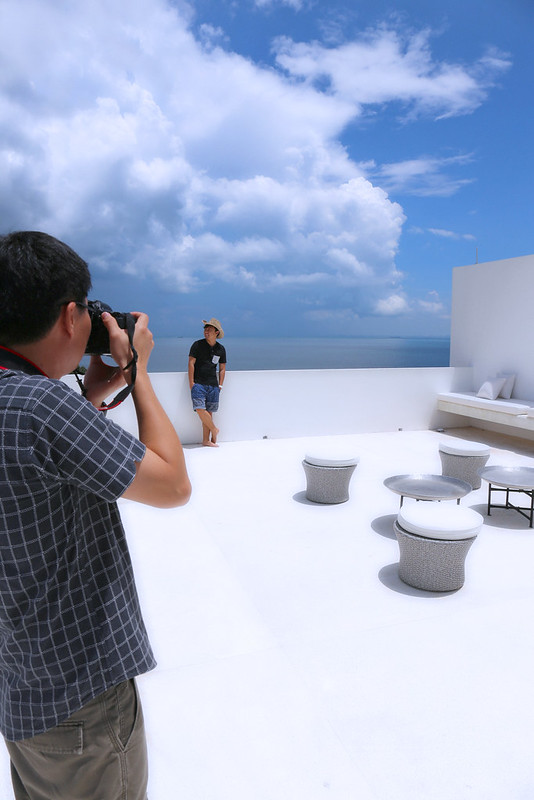 On the roof, the perfect venue for in-villa BBQs!