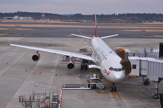 Virgin Atlantic Airbus A340-300 Maiden Tokyo