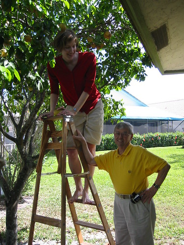 photo of me and John in his garden in Florida