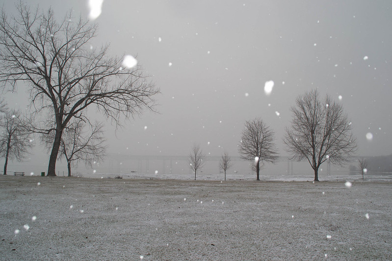 Snow at Riverfront Park, Beacon, NY